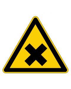 Warnzeichen · Aufkleber | Schild | Magnetschild | Fußbodenaufkleber · Warnung vor gesundheitsschädlichen oder reizenden Stoffen