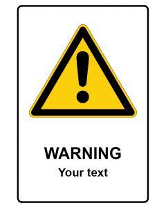 Warnzeichen mit Text · Aufkleber | Schild | Magnetschild · Warning · Your Text
