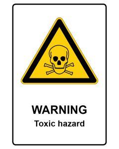 Warnzeichen mit Text · Aufkleber | Schild | Magnetschild · Warning · Toxic hazard