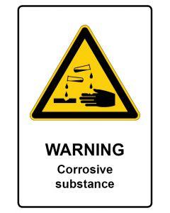 Warnzeichen mit Text · Aufkleber | Schild | Magnetschild · Warning · Corrosive substance