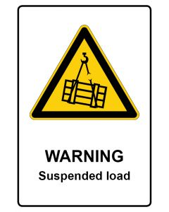 Warnzeichen mit Text · Aufkleber | Schild | Magnetschild · Warning · Suspended load