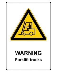 Warnzeichen mit Text · Aufkleber | Schild | Magnetschild · Warning · Forklift trucks
