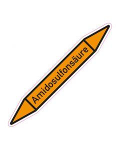 Rohrleitungskennzeichnung Amidosulfonsäure · Aufkleber | Schild · Rohrkennzeichnung