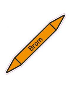 Rohrleitungskennzeichnung Brom · Aufkleber | Schild · Rohrkennzeichnung
