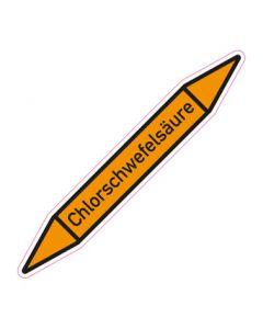 Rohrleitungskennzeichnung Chlorschwefelsäure · Aufkleber | Schild · Rohrkennzeichnung