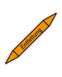 Rohrleitungskennzeichnung Entfettung · Aufkleber | Schild · Rohrkennzeichnung