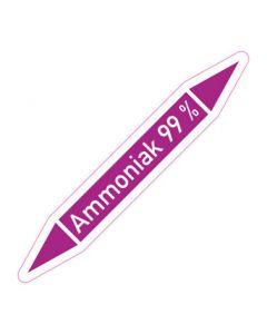 Rohrleitungskennzeichnung Ammoniak 99 % · Aufkleber | Schild · Rohrkennzeichnung