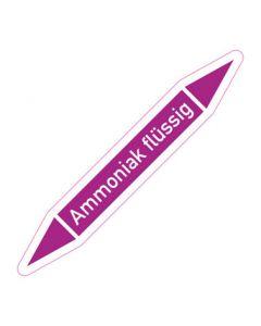 Rohrleitungskennzeichnung Ammoniak flüssig · Aufkleber | Schild · Rohrkennzeichnung