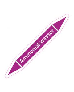 Rohrleitungskennzeichnung Ammoniakwasser · Aufkleber | Schild · Rohrkennzeichnung