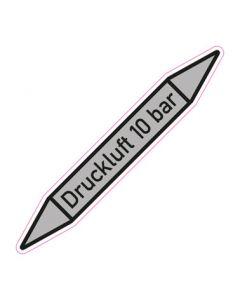 Rohrleitungskennzeichnung Druckluft 10 bar · Aufkleber | Schild · Rohrkennzeichnung