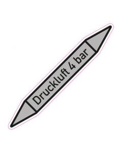 Rohrleitungskennzeichnung Druckluft 4 bar · Aufkleber | Schild · Rohrkennzeichnung