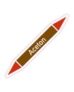 Rohrleitungskennzeichnung Aceton · Aufkleber | Schild · Rohrkennzeichnung