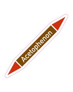 Rohrleitungskennzeichnung Acetophenon · Aufkleber | Schild · Rohrkennzeichnung