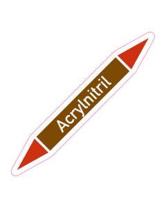 Rohrleitungskennzeichnung Acrylnitril · Aufkleber | Schild · Rohrkennzeichnung
