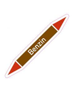 Rohrleitungskennzeichnung Benzin · Aufkleber | Schild · Rohrkennzeichnung