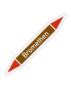 Rohrleitungskennzeichnung Bromethen · Aufkleber | Schild · Rohrkennzeichnung