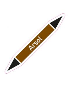 Rohrleitungskennzeichnung Arsol · Aufkleber | Schild · Rohrkennzeichnung