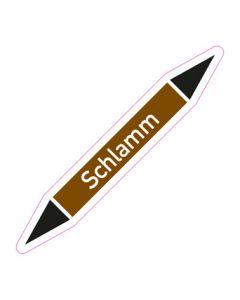 Rohrleitungskennzeichnung Schlamm · Aufkleber | Schild · Rohrkennzeichnung