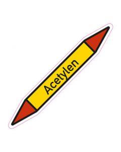 Rohrleitungskennzeichnung Acetylen · Aufkleber | Schild · Rohrkennzeichnung