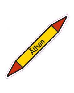 Rohrleitungskennzeichnung Äthan · Aufkleber | Schild · Rohrkennzeichnung