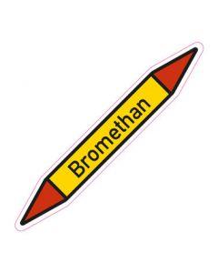 Rohrleitungskennzeichnung Bromethan · Aufkleber | Schild · Rohrkennzeichnung