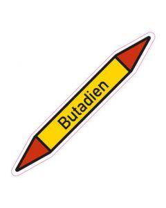Rohrleitungskennzeichnung Butadien · Aufkleber | Schild · Rohrkennzeichnung