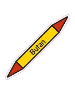 Rohrleitungskennzeichnung Butan · Aufkleber | Schild · Rohrkennzeichnung