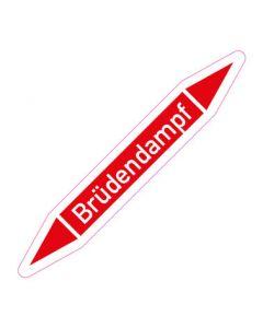 Rohrleitungskennzeichnung Brüdendampf · Aufkleber | Schild · Rohrkennzeichnung