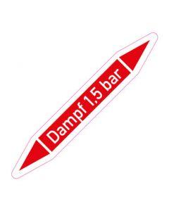 Rohrleitungskennzeichnung Dampf 1,5 bar · Aufkleber | Schild · Rohrkennzeichnung