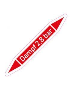 Rohrleitungskennzeichnung Dampf 2,8 bar · Aufkleber | Schild · Rohrkennzeichnung