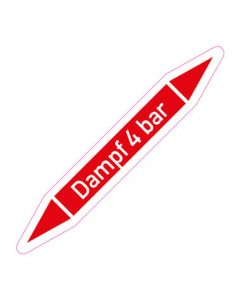 Rohrleitungskennzeichnung Dampf 4 bar · Aufkleber | Schild · Rohrkennzeichnung
