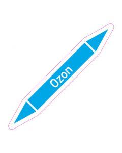 Rohrleitungskennzeichnung Ozon · Aufkleber | Schild · Rohrkennzeichnung