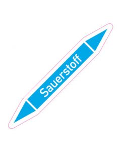 Rohrleitungskennzeichnung Sauerstoff · Aufkleber | Schild · Rohrkennzeichnung